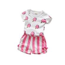 Ice Cream T-shirts + Shorts 2pcs 100% Cotton