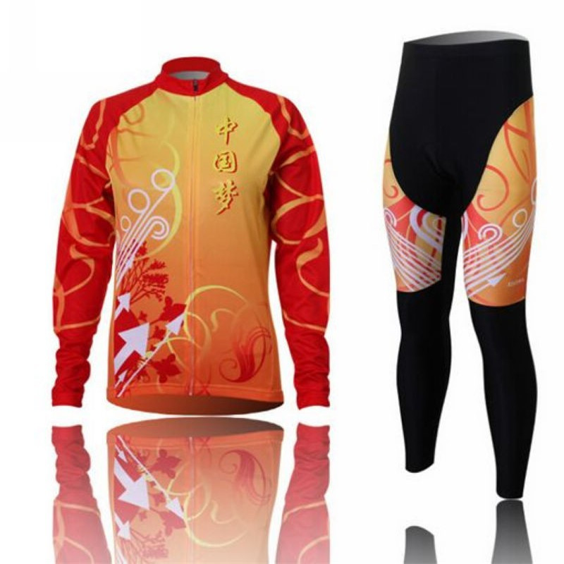 Xintown Spring Women Long Sleeve Cycling Jersey Set Outdoor Sport Cycling Clothing Autumn Bike Jersey KitQuick Dry Cycle Jersey xintown 2018 cycling jersey clothing set summer outdoor sport cycling jersey set sports wear short sleeve jersey bib shorts sets
