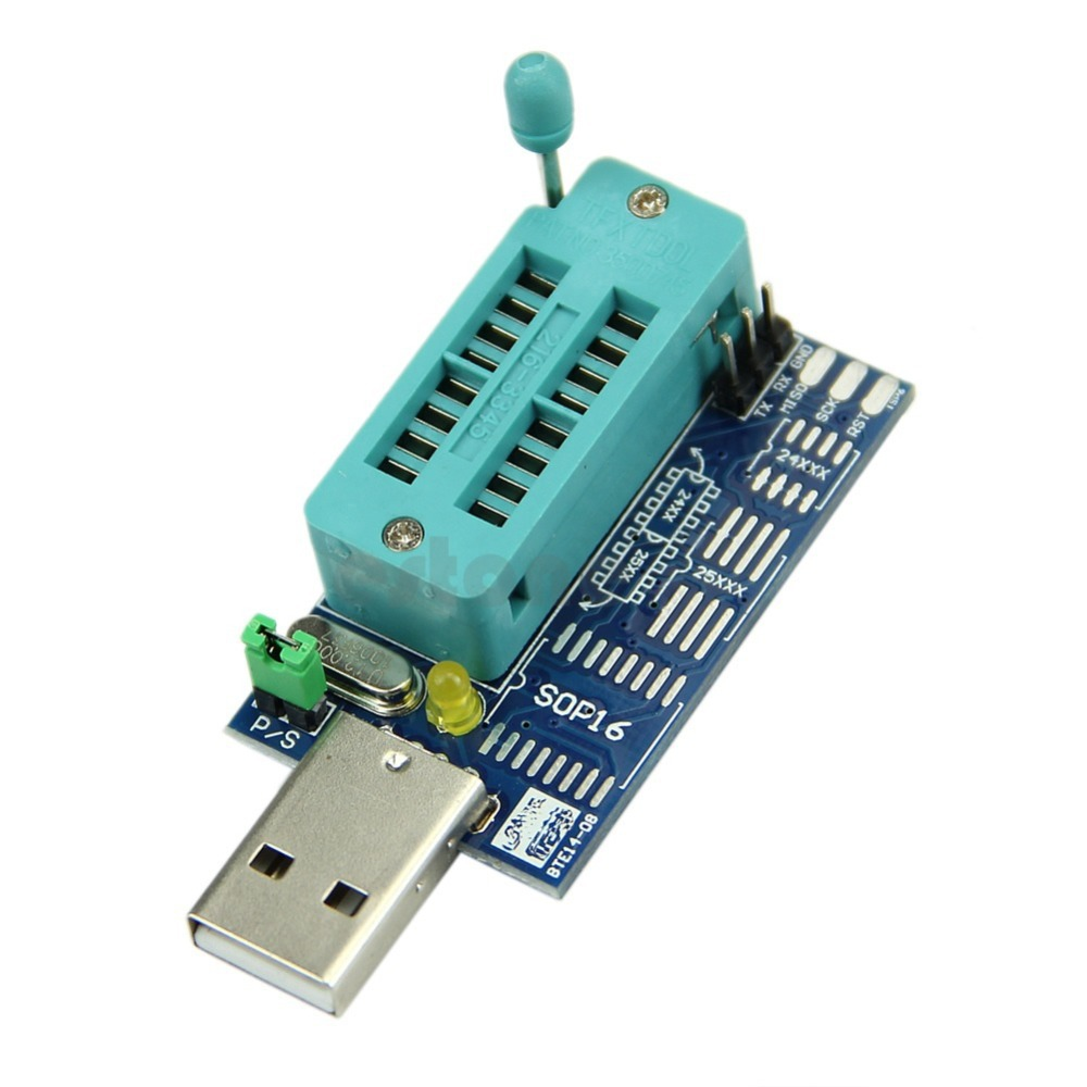 OOTDTY Multifunction CH341A Router USB Programmer LCD Burner Bios Board For 24 25 Series