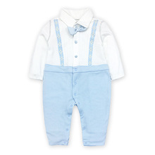 Tender Babies Baby Boy Clothing Little gentlemen all in one collar with mock braces and bow tie detail недорого