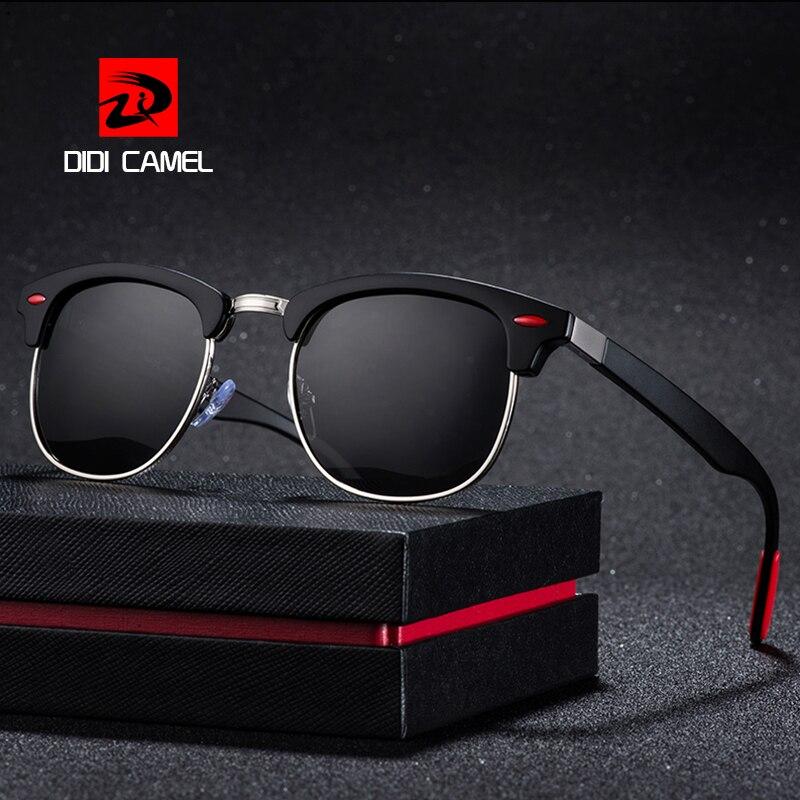 9dc671d18 Clássicos Óculos Polarizados Homens Mulheres Marca Retro Designer Sem Aro  Semi Metade Moldura Quadrada Óculos de Sol Oculos de sol UV400 P3016