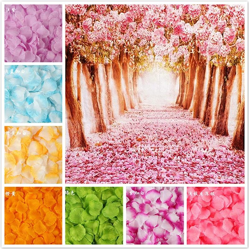 100Pcs/Pack 5*5cm Artificial Flowers Simulation Rose Petals Decorations Wedding Marriage Room Beautiful Rose Flower