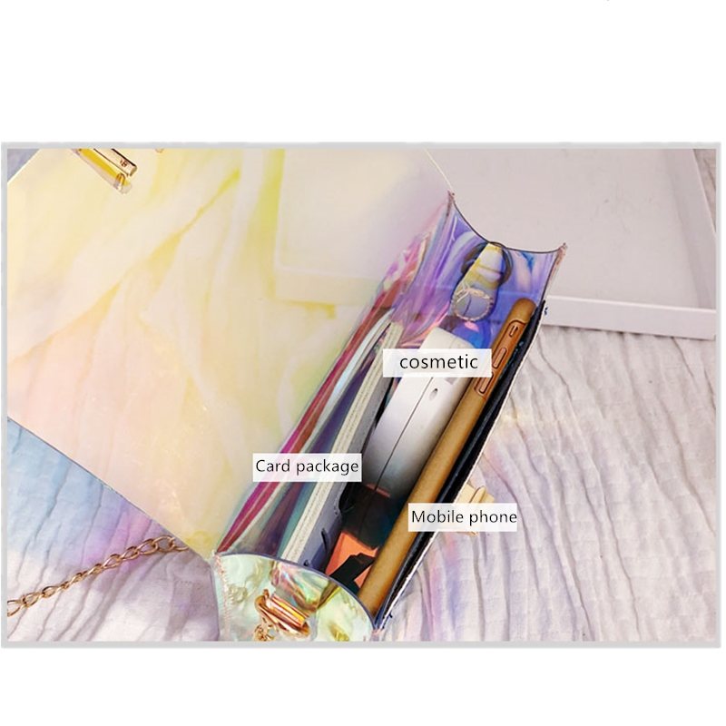 JIAOO Laser Transparent Bags Fashion Women Crossbody Bags for Women Korean Style Shoulder Bag Messenger PVC Waterproof Beach Bag 18
