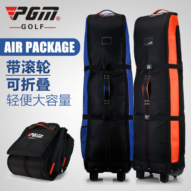 PGM Brand foldable Golf Aviation Bag Thicker Golf Bag With bottom Chassis and wheels A4739 pgm supreme golf club set 13clubs titanium for men with golf bag driver 2woods hybird 8irons putter stand bagpackage head covers