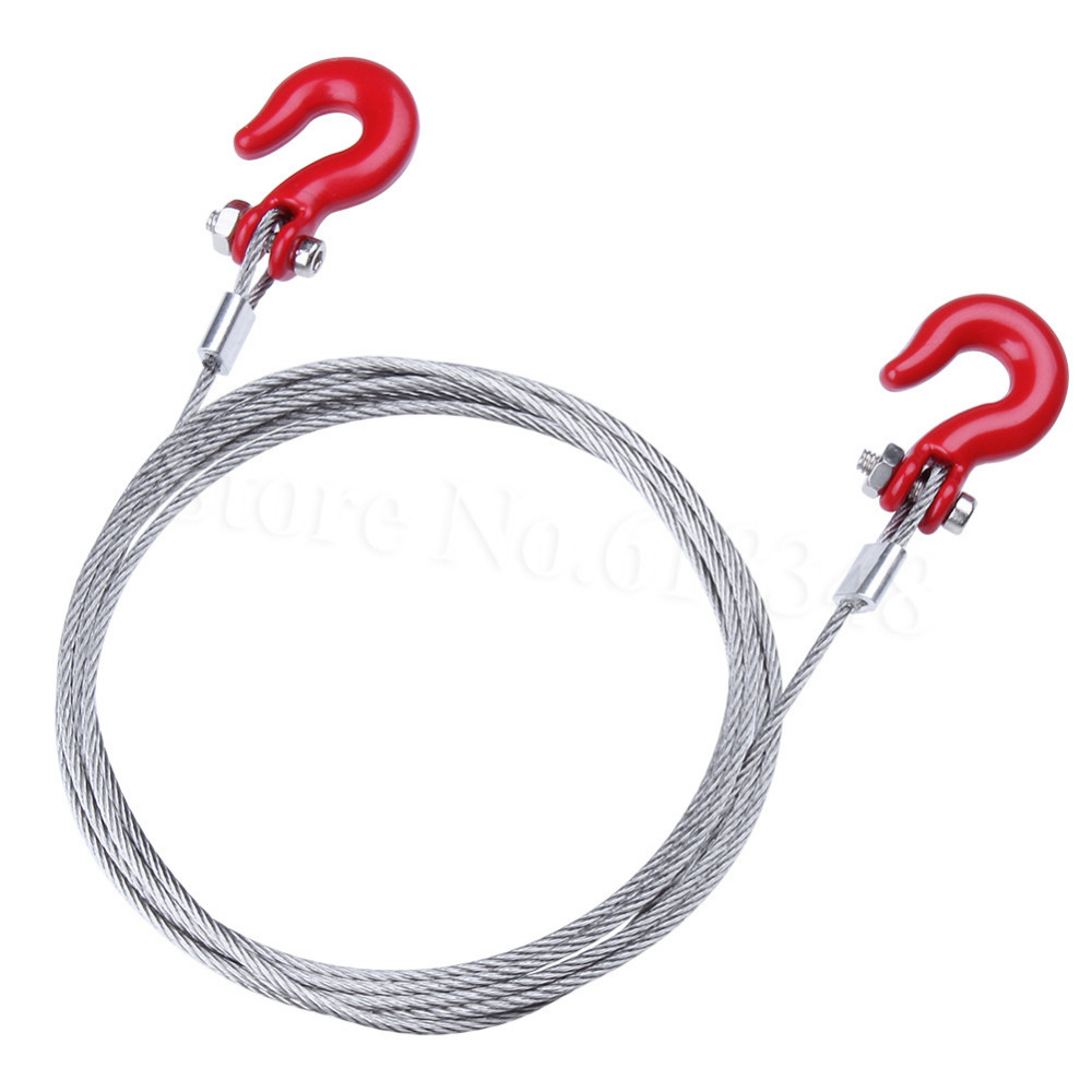 RC Crawler Steel Rope with Tow Hook for 1/10 Axial SCX10 90026 TAMIYA CC01 RC4WD D90 D11 ...