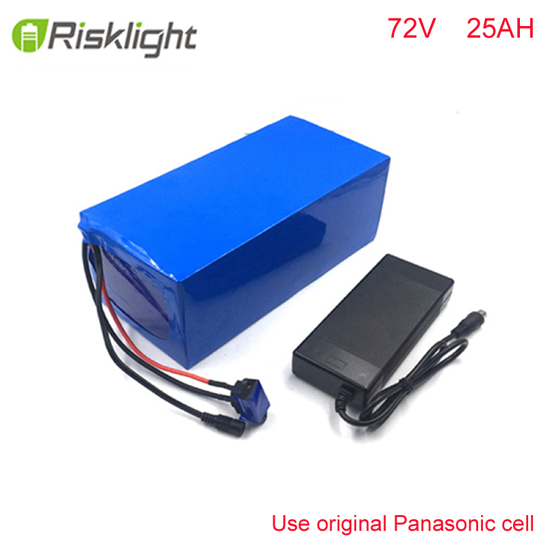 bike battery 72v 25ah lithium battery pack 72v 3000w Lithium Ion Battery FOR Electric Bike with charger ,BMS For Panasonic cell 48 volt li ion battery pack electric bike battery with 54 6v 2a charger and 25a bms for 48v 15ah lithium battery
