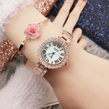 Women Wrist Watches for Graceful Elegant Female Fashion Waterproof Rhinestone Lady Diamond Dress Watch