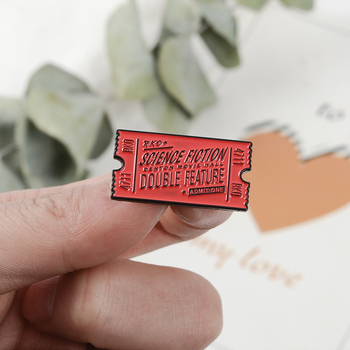 Rocky Horror Pin boleto de cine esmalte pin Pin de solapa pines Rocky Horror Picture mostrar película Rojo Negro boleto Pastel broches esmaltados Pin
