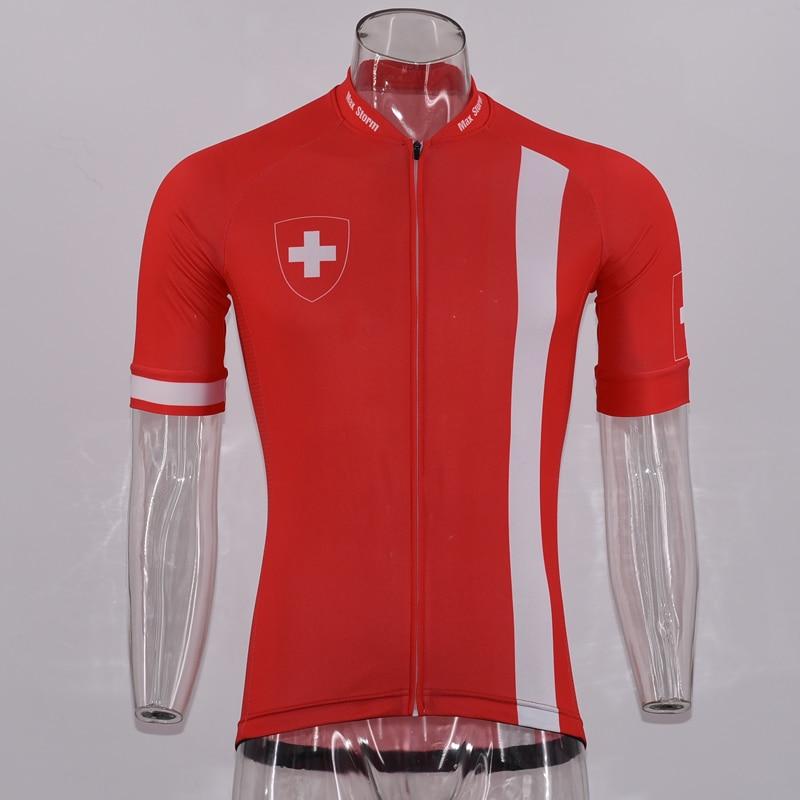 d233050c14608 Comprar 2019 Suíça NOVA equipe Camisa de Ciclismo Personalizado Estrada  Corrida de Montanha Clássica Top max tempestade Reflexivo zipper bolso 4  Baratas ...