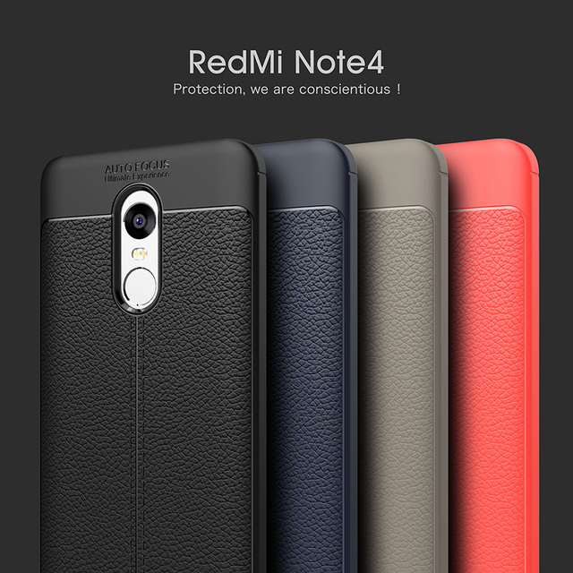 For Xiaomi Redmi Note 4 Case Luxury Ultra-Thin Soft TPU Leather Design Cases For Xiaomi Redmi Note 4X Note 4 Global Version Case