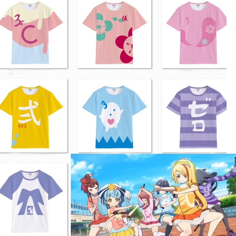 Zombieland Saga Sakura Minamoto Konno Junko T-shirt Shirt Cosplay Costume Tops