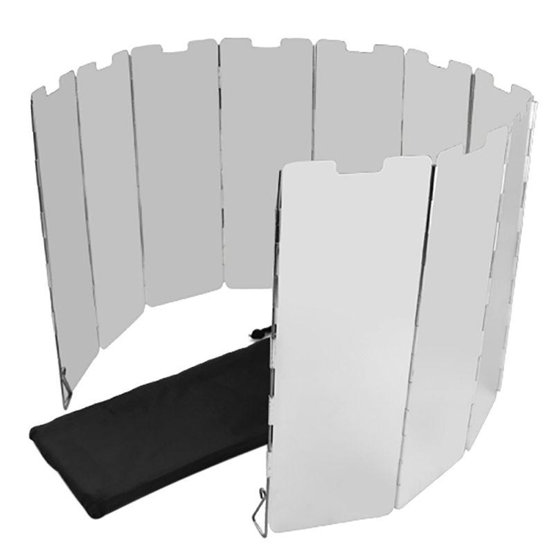 10 Panels Durable Foldable Aluminium Alloy Compact Camp Stove wind board