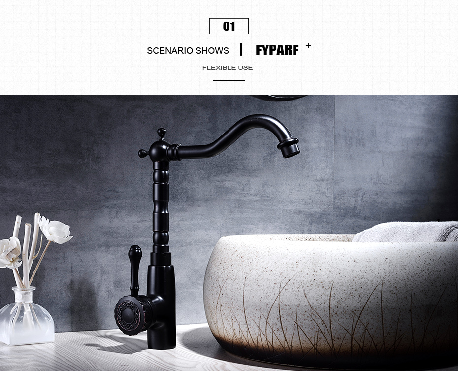 Fyparf Designer Bathroom Sink Faucets Hot And Cold Faucet Basin Mixer Sink Water Tap Black Antique Brass Sink Faucet Mixer Taps Basin Faucets Aliexpress