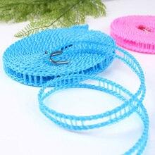 3 м/5 м Противоскользящая бельевая портативная наружная ветрозащитная бельевая веревка для путешествий, выдвижная веревка, линия для стирки, вешалка для сушки одежды