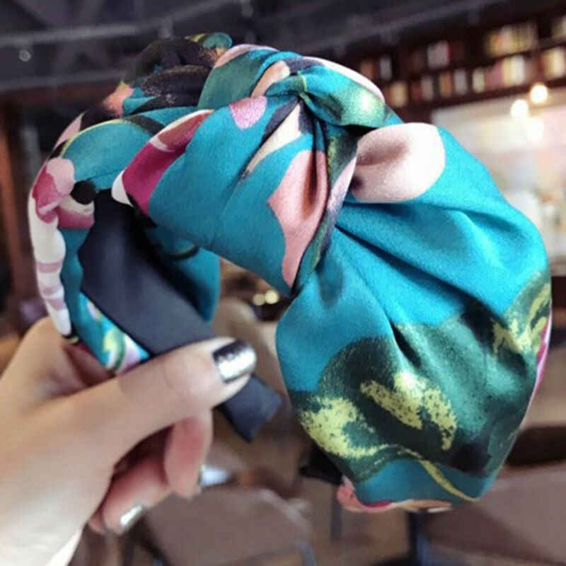 Женская повязка на голову для девочек, заколка-Твистер, бант, перекрещенная ткань, повязка на голову, обруч для волос