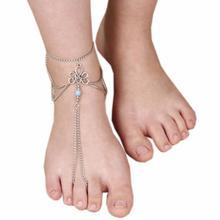Diomedes новые креативные элегантные браслеты женская мода пляж босиком сандал ног кисточкой ювелирные изделия ножной браслет