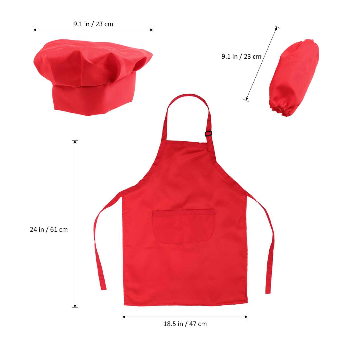 418f50b09ff ... Juego de Chef para niños juego completo de regalo de cocina con delantal  de sombrero de