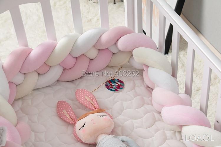 4 веревки Длина 200 см узелки мягкая подушка с узлом декоративные детские постельные принадлежности простыни плетеная кроватка бампер узел подушка