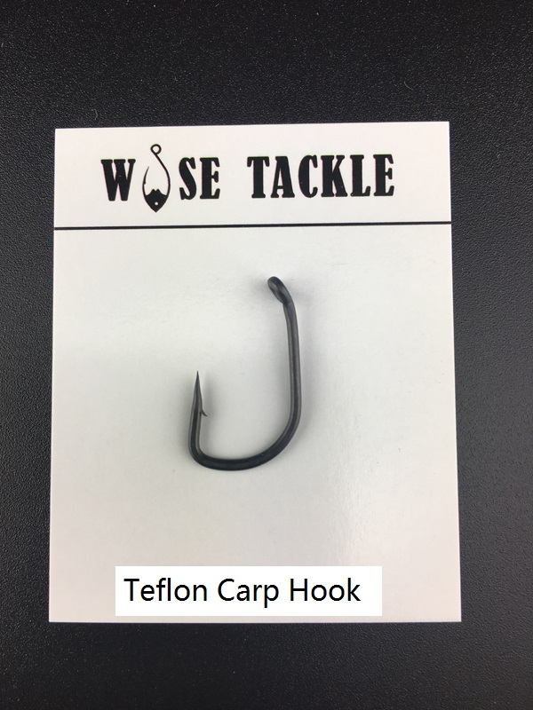 US $9 54 |50PCS Wise Tackle Wide Gape SP Carp Hooks Dark Grey Teflon Coated  Used for Carp Rigs PTFE Coated Fishing Hooks-in Fishhooks from Sports &