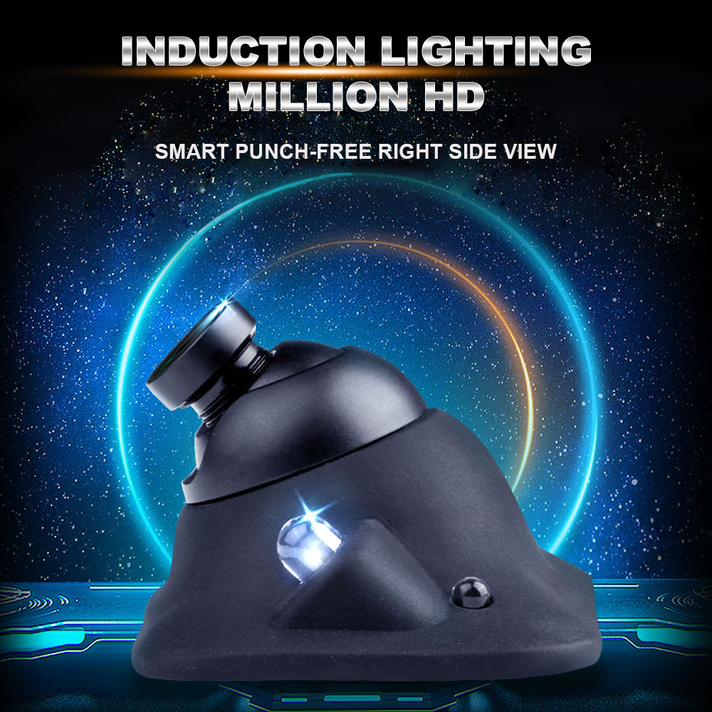 Auto LED Night Vision HD CCD Car Rear/Front/Left/Right Side View Camera Induction 360 Rotation Universal Car Revere Camera