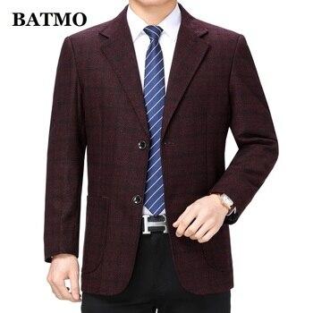 Batmo 2019 new arrival high quality smart casual plaid blazer men,men's casual suits,men's jackets plus-size  201915