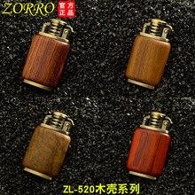 Zorro Petrol Lighter Gasoline Wooden Made Material Kerosene Cigarette  Oil Refillable
