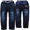 3987 зима теплая джинсы брюки мальчиков брюки толщиной джинсовой темно-синий дети мода детская одежда новый