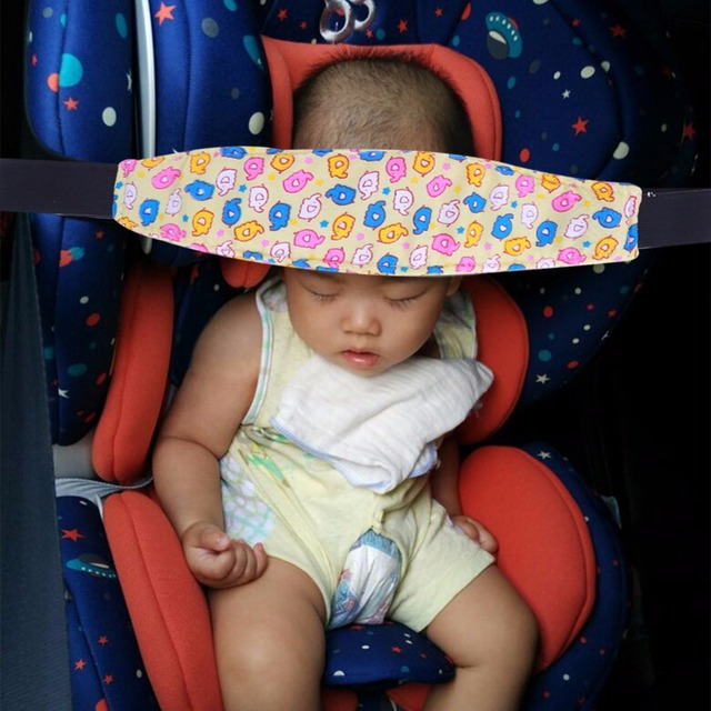Kids Cute Adjustable Baby Car Seat Sleep Nap Head Band Support Holder Fixing Pushchair