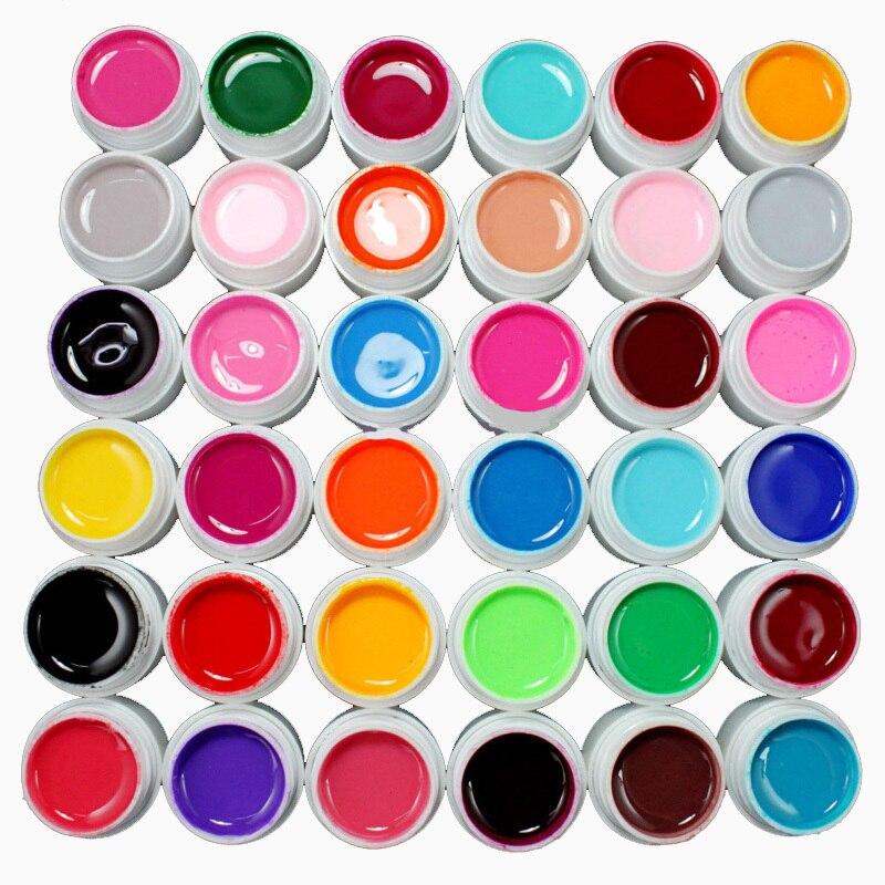 Professional 36 pots Pure Color UV Gel Builder 8ml/pot Nail Art Decor