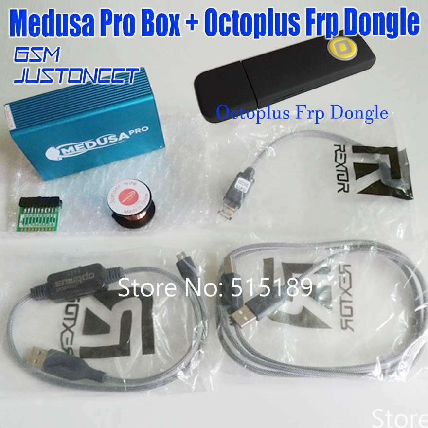 ORIGINAL nouveau Medusa PRO Boîte Medusa Boîte + octoplus Frp dongle + JTAG Clip MMC Pour LG Pour Samsung Pour huawei avec Optimus câble