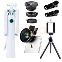 Mini Tripod Ảnh Tự Sướng Thanh HD 0.45X Góc Siêu Rộng Macro Ống Kính Fisheye Lentes Camera Lens Kit Cho Xiaomi redmi 4X note4 MI5 MI6