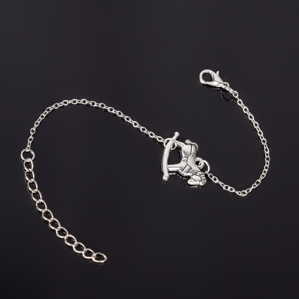 Simple Style Silver Plated Charm Bracelet Jewelry Gift Wedding Banquet Wholesale Top Quality 1 D2 11