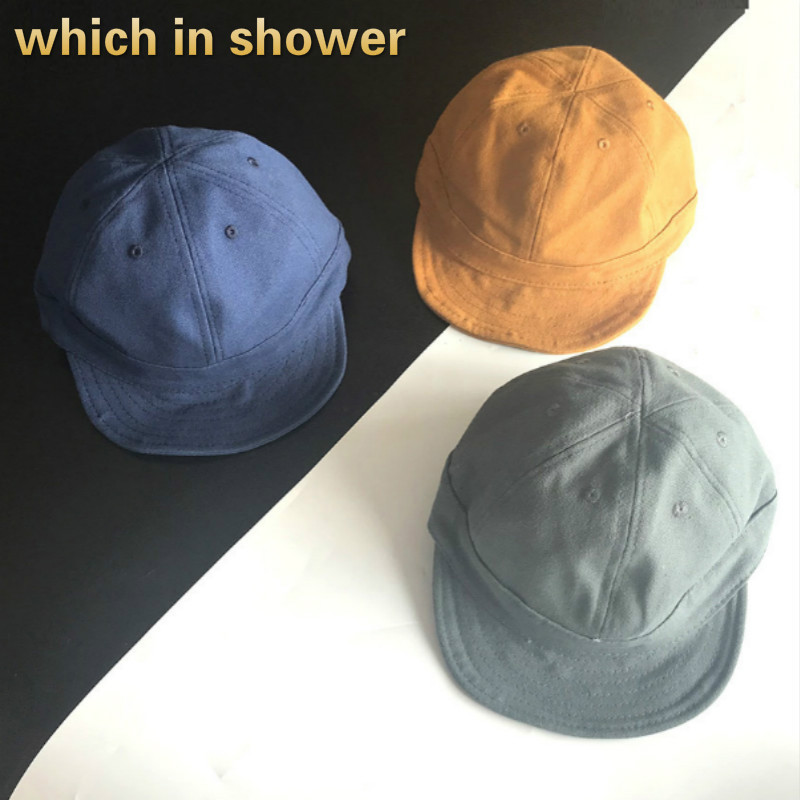 Short Brim   Baseball     Cap   For Women Men Snapback Fitted   Cap   Washed Cotton Solid Family Soft Brim Vintage Trucker Hat For Women Men