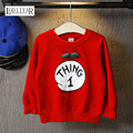 2017 Kids Boys Girls Clothes, Cartoon Letter Pattern Long Sleeve Boys Outerwear, Leisure Red T-shirt Spring Autumn