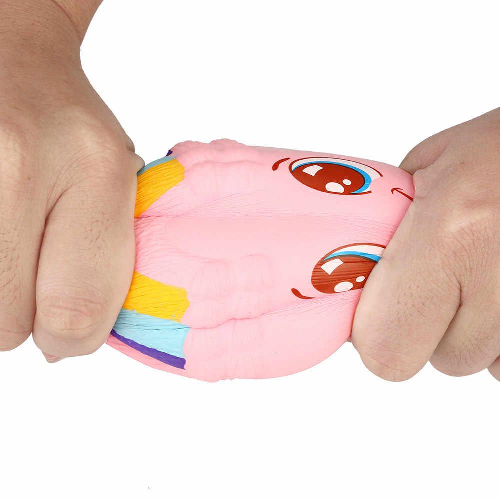 الغذاء لذيذ قوس قزح كعكة بطيئة ارتفاع لعبة ضد الإجهاد المعطرة ضغط لعبة العملاق السكويشات الإجهاد الإغاثة
