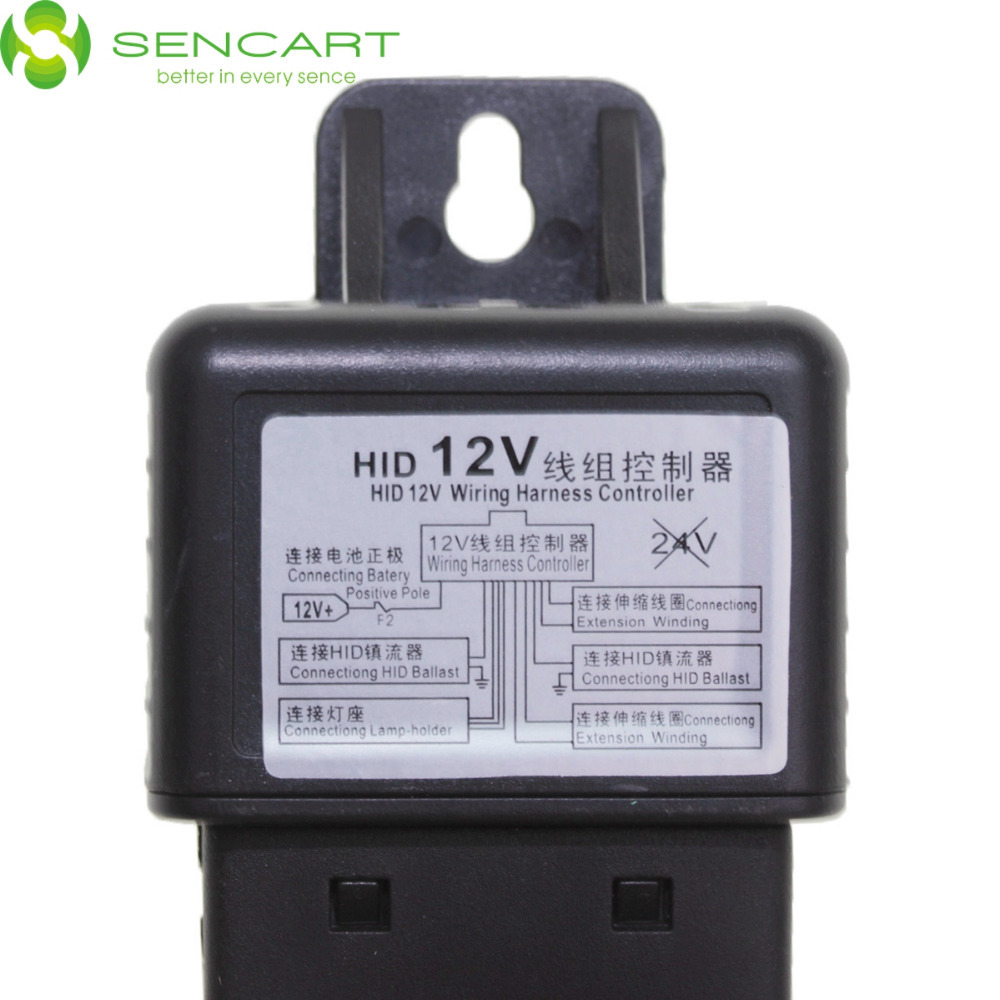 Car HID Bi Xenon H4 9003 Hi Lo Controller Fuse Relay Wire Wiring
