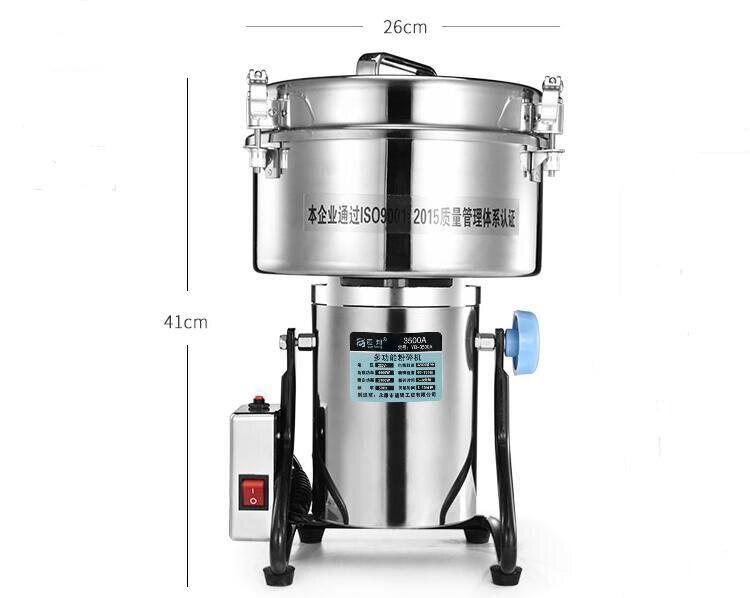 高速電気穀物スパイスグラインダー4500g、漢方シリアルコーヒー乾燥食品粉末粉砕機ミル粉砕機Мельница