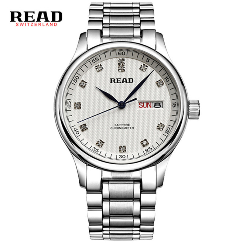 READ reloj hombre Business watch steel hand watches men sapphire crystal Multiple Waterproof Calendar uhr Christmas gift O87 orkina montres 2016 new clock men quarz watch uhr uhr cool horloges mannen gift box wrist watches for men