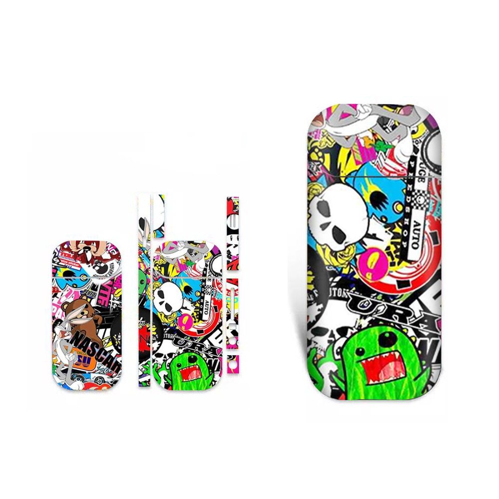 Graffiti Booming Protective Vinyl <font><b>Sticker</b></font> For <font><b>IQOS</b></font> 2.4 Plus 2.4p Skins Removable Adhesive Decorative Decal <font><b>Sticker</b></font> image