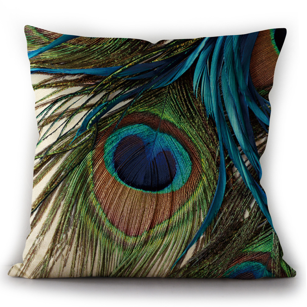 High resolution portrait feather pillow case christmas  realistic cover size 45x45cm free shipping