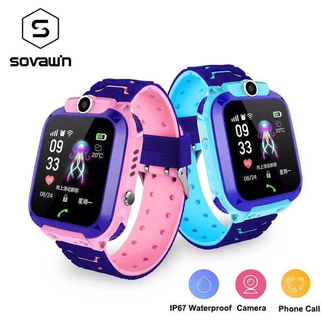 S12 Đồng Hồ Thông Minh Trẻ Em IP67 Thể Thao Chống Thấm Nước Đồng Hồ Thông Minh Android Trẻ Em Cuộc Gọi SOS Đồng Hồ Thông Minh Smartwatch với Camera Sim HD Cảm Ứng màn hình