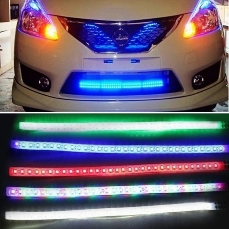 Car light decorated flexible waterproof led strip vehicle styling car light decorated flexible waterproof led strip vehicle styling led strips lightings automobiles warning lights 12v 30cm in car light assembly from mozeypictures Images