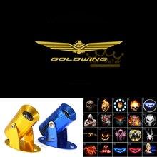 GOLDWING Logo Moto Dellombra Del Fantasma Spotlight Proiettore Laser HA CONDOTTO LA Luce di Marchio per Honda