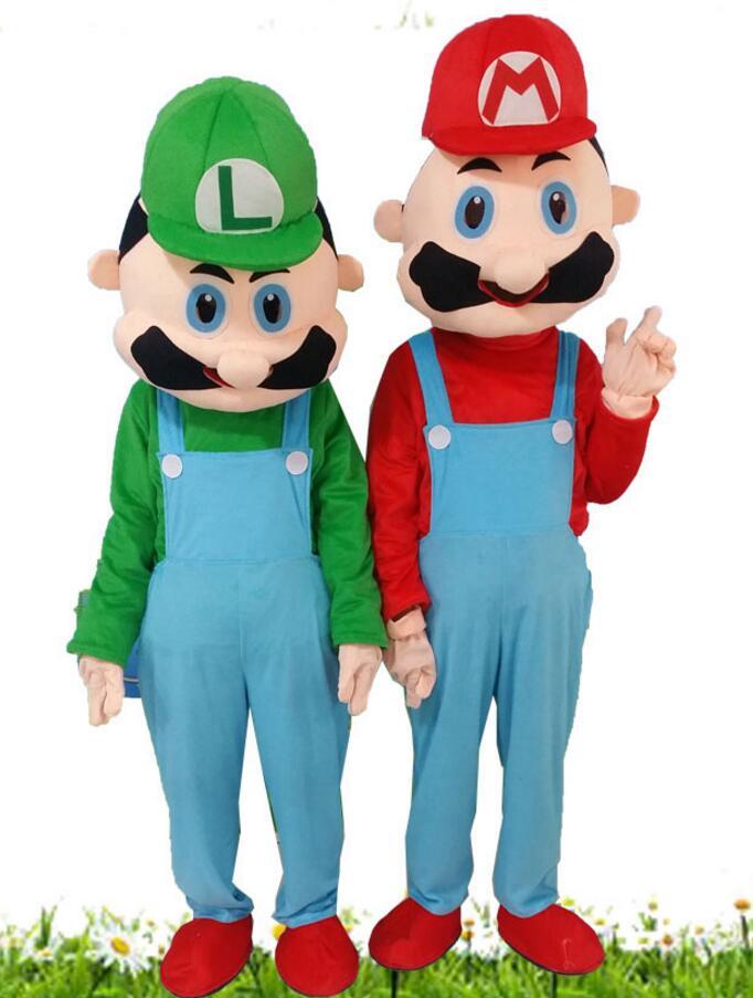Haute qualité EVA matériel casque personnalisation rapide Mario mascotte Costumes unisexe dessin animé vêtements