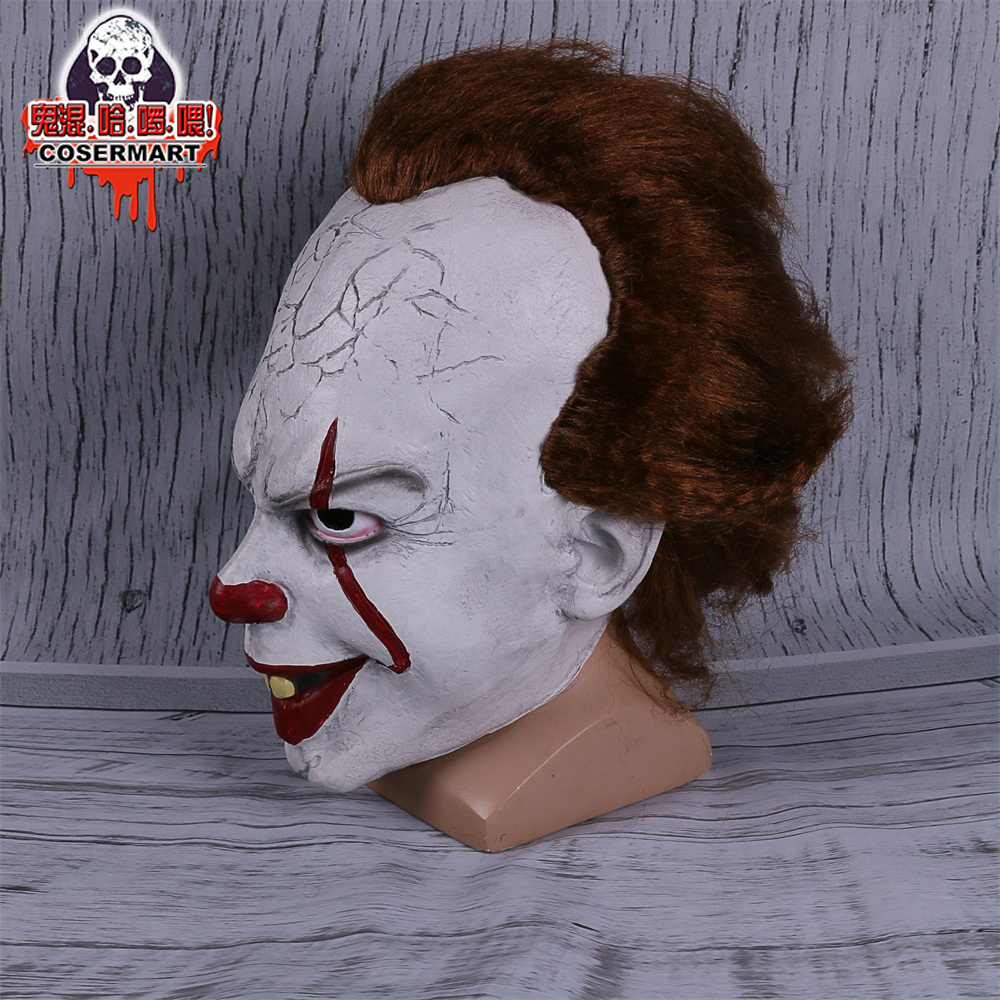 2017 Movie Stephen King's It mask Joker Mask Tim Curry Horrible Mask Cosplay Halloween Party (8)