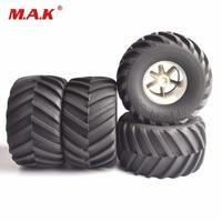 4Pcs 1/8 Scale Big Foot Climbing Ruber Tires Wheels Rims Set fit Big Foot Car Accessories Truck RC Model