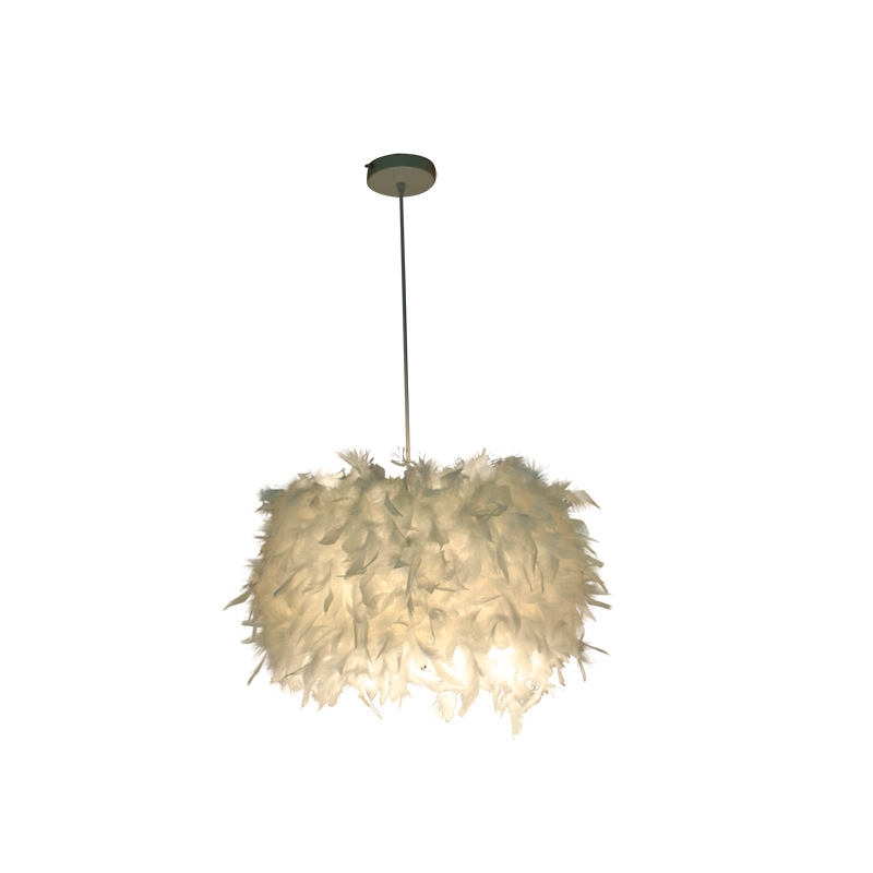 Personality Dining Room Bedroom Feather Chandelier Nordic Small Chandelier