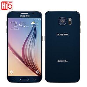 Image 1 - Mở Khóa Chính Hãng Samsung Galaxy S6 G920F/V/Điện Thoại Octa Core RAM 3GB Rom 32GB LTE WCDMA 16MP 5.1 Inch Wi Fi Điện Thoại Thông Minh Android