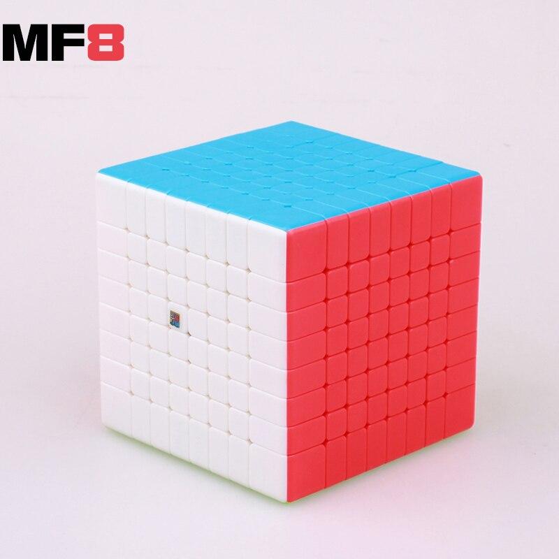 MOYU MF8 8x8x8 velocidad cubo mágico 8 capas pegatina menos cubos profesional moyu cubo magico juguetes para niños o adultos
