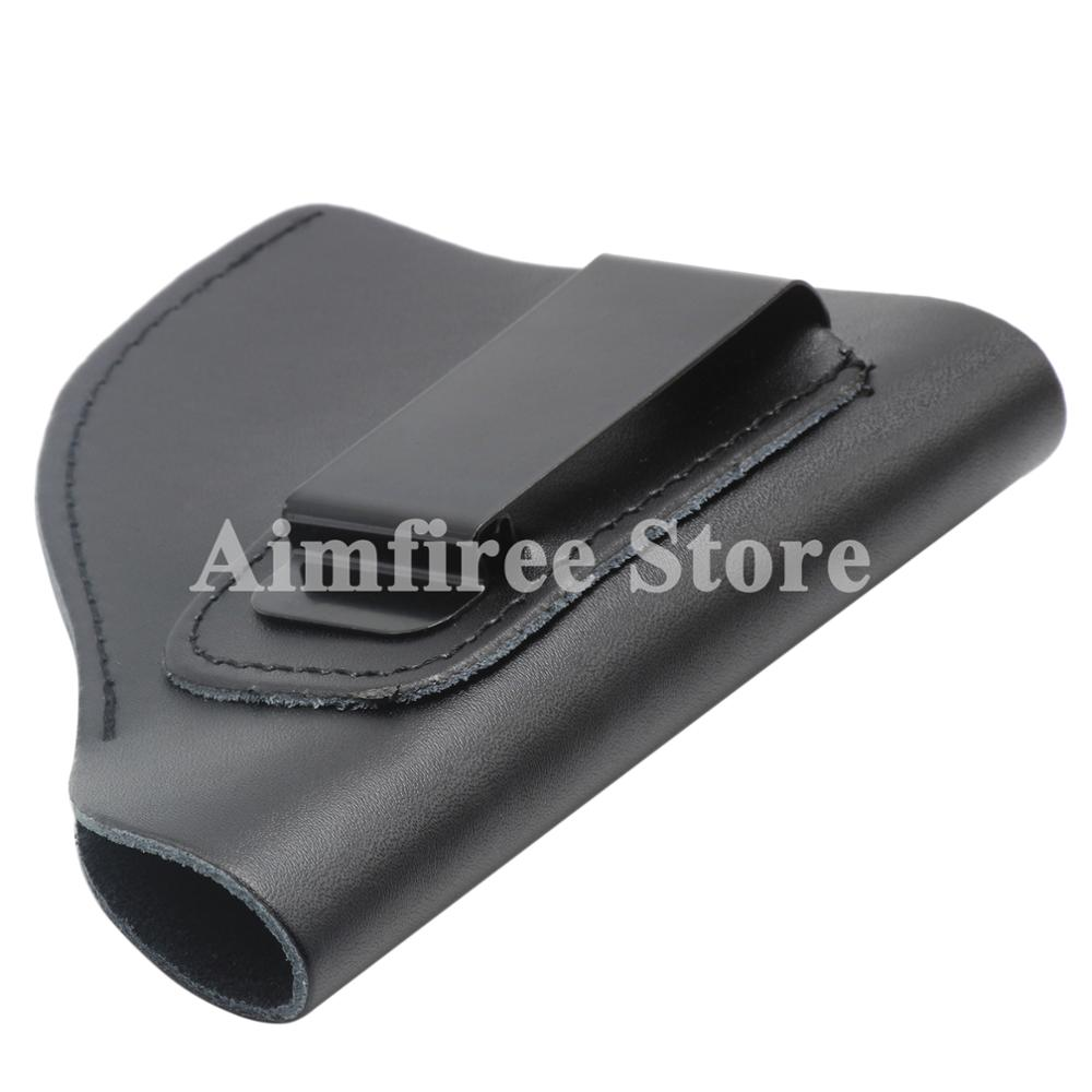 Tactica Leather IWB Holster Right Hand Fits Most J Frame .38 Special Revolvers Ruger LCR Smith Wesson Body Guard Taurus